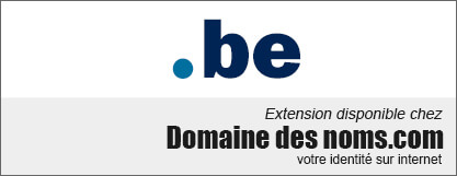 image logo nom de domaine extension .be