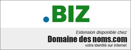 image logo nom de domaine extension .biz