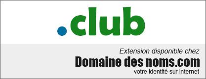 image logo nom de domaine extension .club