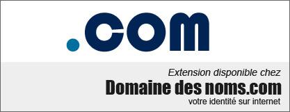 image logo nom de domaine extension .com