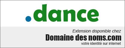 image logo nom de domaine extension .dance