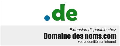 image logo nom de domaine extension .de