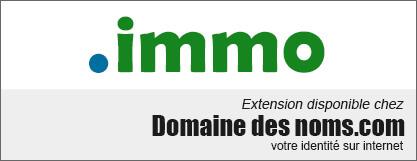 image logo nom de domaine extension .immo