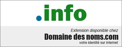 image logo nom de domaine extension .info