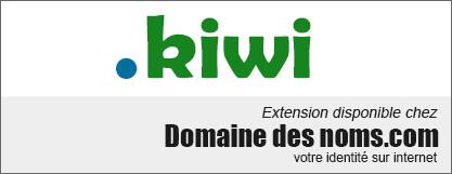 image logo nom de domaine extension .kiwi