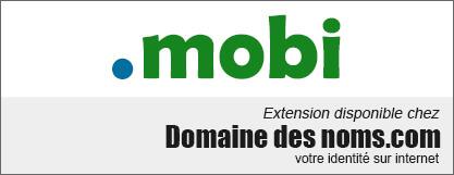 image logo nom de domaine extension .mobi
