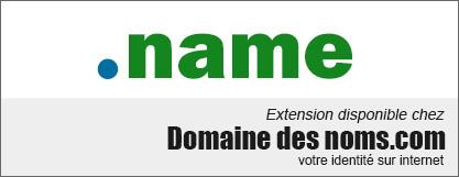 image logo nom de domaine extension .name