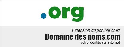 image logo nom de domaine extension .org