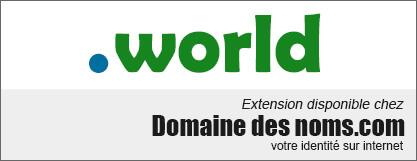 image logo nom de domaine extension .world
