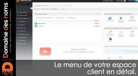 Embedded thumbnail for Le menu de votre espace client en détail